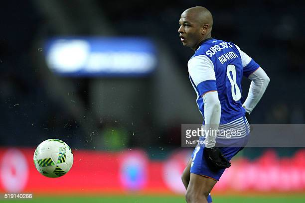 Porto's Algerian forward Yacine Brahimi in action during the Premier League 2015/16 match between FC Porto and CD Tondela at Dragão Stadium in Porto...