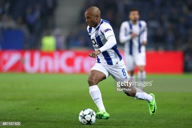 Porto's Algerian forward Yacine Brahimi in action during the UEFA Champions League Group G match between FC Porto and AS Monaco FC at Dragao Stadium...