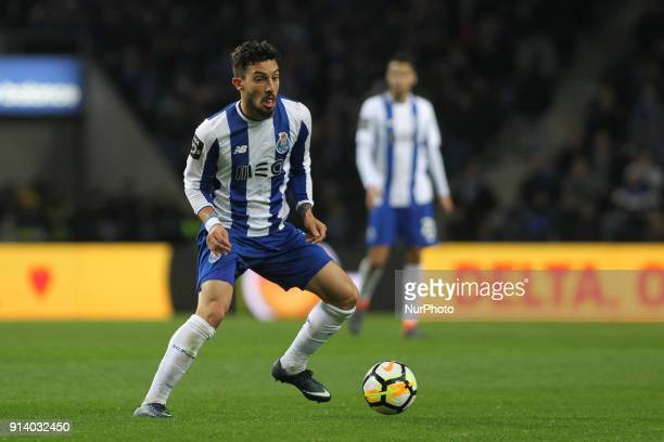 Porto's Brazilian defender Alex Telles during the Portuguese League 2017/18 match between FC Porto and SC Braga at Dragao Stadium in Porto on...