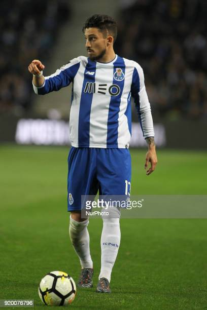 Porto's Brazilian defender Alex Telles during the Premier League 2017/18 match between FC Porto v Rio Ave FC at Dragao Stadium in Porto on February...