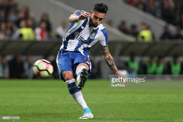 Porto's Brazilian defender Alex Telles during the Premier League 2016/17 match between SC Braga and FC Porto at Municipal de Braga Stadium in Braga...