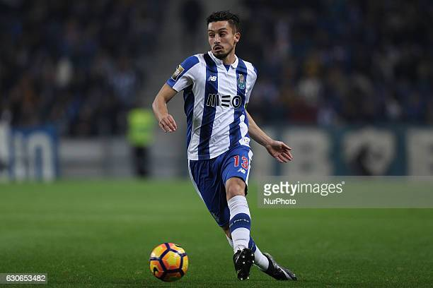 Porto's Brazilian defender Alex Telles in action during the League Cup 2016/17 match between FC Porto and CD Feirense at Dragao Stadium in Porto on...