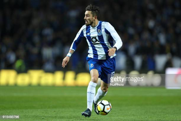 Porto's Brazilian defender Alex Telles in action during the Portuguese Cup 2017/18 match between FC Porto and Sporting CP at Dragao Stadium in Porto...