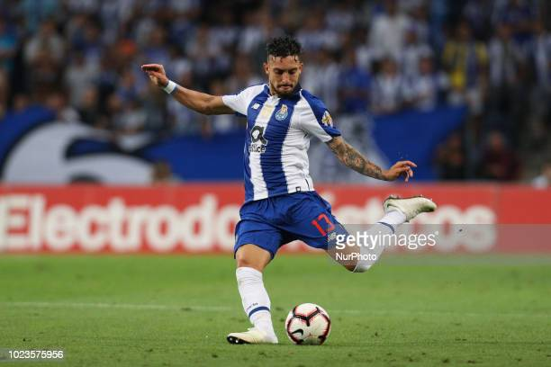 Porto's Brazilian defender Alex Telles in action during the Premier League 2018/19 match between FC Porto and Vitoria SC at Dragao Stadium in Porto...