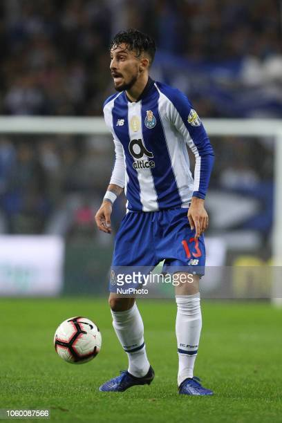 Porto's Brazilian defender Alex Telles in action during the Premier League 2018/19 match between FC Porto and SC Braga at Dragao Stadium in Porto on...