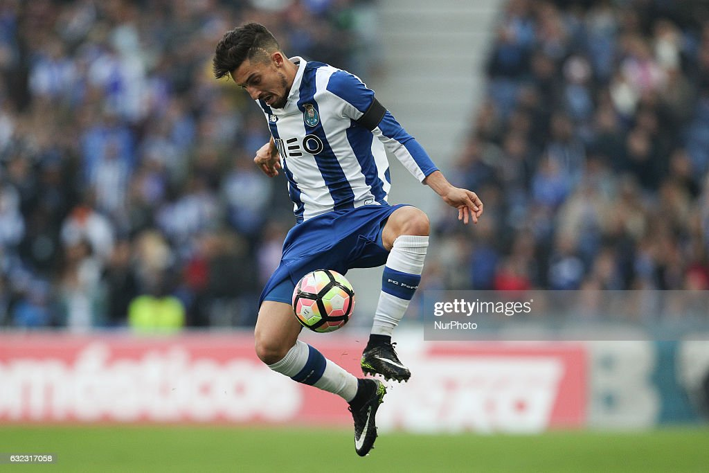 Porto's Brazilian defender Alex Telles in action during the Premier League 2016/17 match between FC Porto and Rio Ave, at Dragao Stadium in Porto on January 21, 2017.