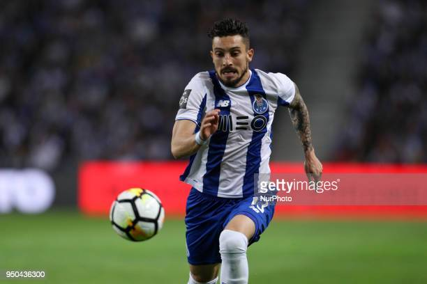 Porto's Brazilian defender Alex Telles in action during the Premier League 2016/17 match between FC Porto and Vitoria FC at Dragao Stadium in Porto...