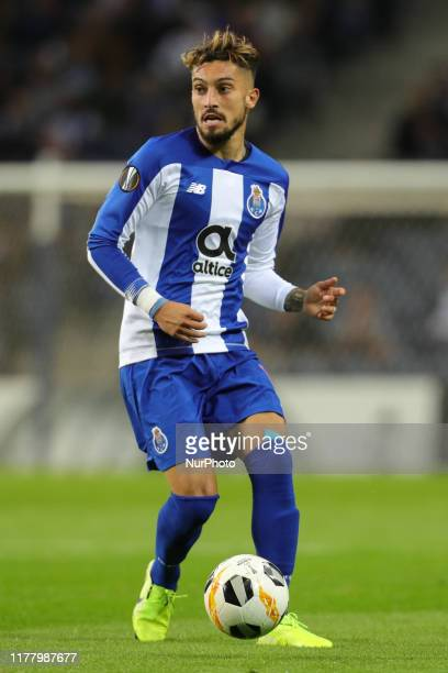 Portos Brazilian defender Alex Telles in action during the UEFA Europa League group G match between FC Porto and Rangers FC at Dragao Stadium on...