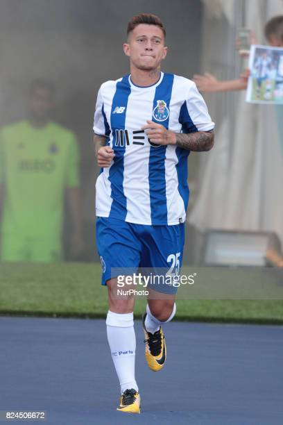 Porto's Brazilian midfielder Otavio during the preseason friendly between FC Porto and Deportivo da Corunha at Dragao Stadium on July 30 2017 in...