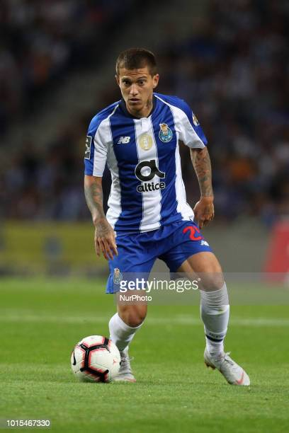 Porto's Brazilian midfielder Otavio in action during the Premier League 2018/19 match between FC Porto and GD Chaves at Dragao Stadium in Porto on...
