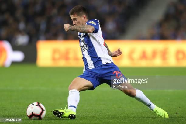 Porto's Brazilian midfielder Otavio in action during the Premier League 2018/19 match between FC Porto and SC Braga at Dragao Stadium in Porto on...