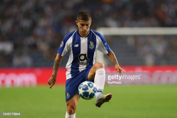 Porto's Brazilian midfielder Otavio in action during the UEFA Champions League match between FC Porto and Galatasaray at Dragao Stadium in Porto on...