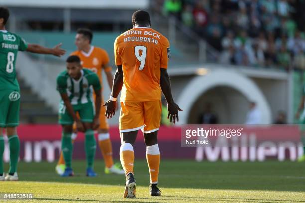 Porto's Cameroonian forward Vincent Aboubakar during the Premier League 2017/18 match between Rio Ave FC and FC Porto at Rio Ave Stadium in Vila do...