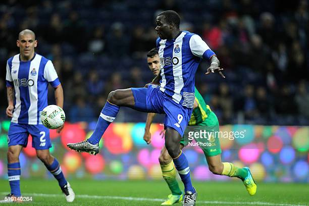 Porto's Cameroonian forward Vincent Aboubakar in action during the Premier League 2015/16 match between FC Porto and CD Tondela at Dragão Stadium in...