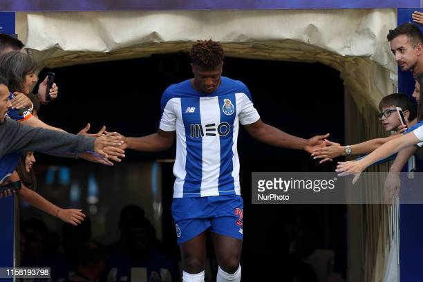 Portos Cape Verdean forward Ze Luis during the presentation of the Porto FC players before the Preseason friendly match between FC Porto and AS...