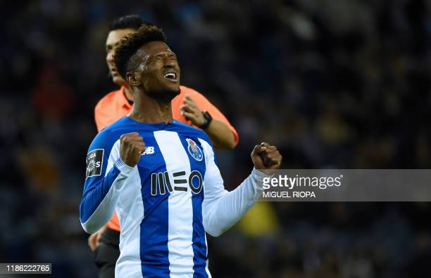 Porto's Cape Verdean forward Ze Luis reacts to missing a goal opportunity during the Portuguese league football match between FC Porto and FC Pacos...
