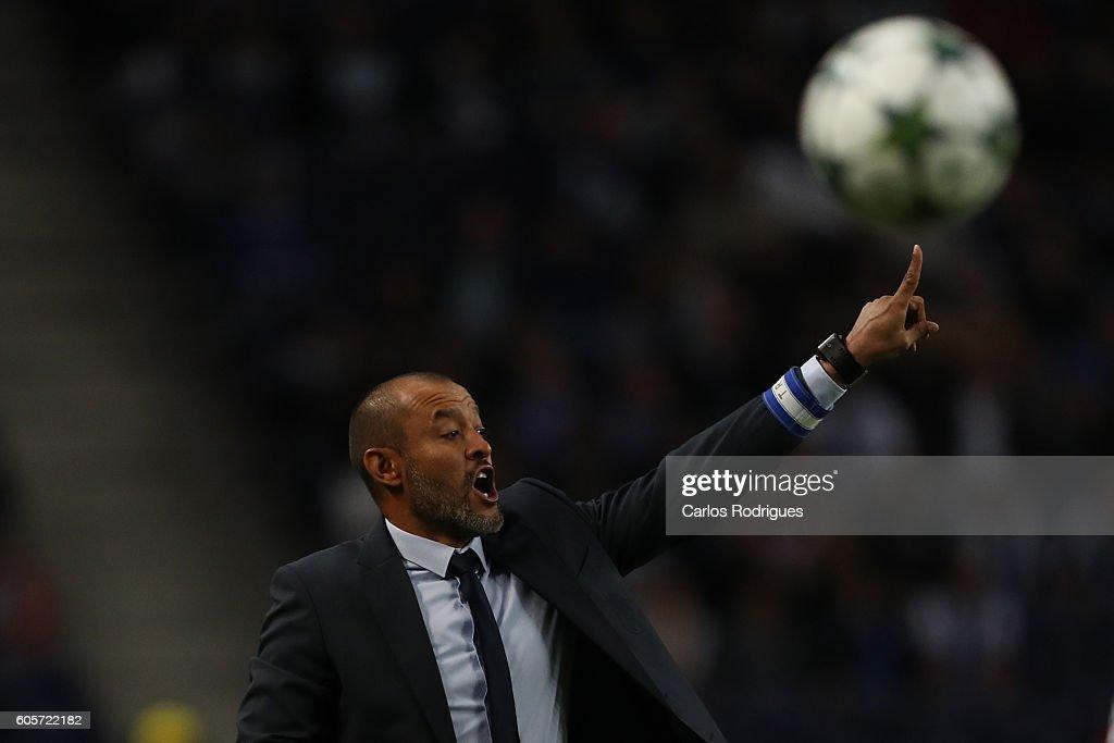 Porto's coach Nuno Espirito Santo during the UEFA Champions League match between FC Porto v FC Copenhagen at Estadio do Dragao on September 14, 2016 in Lisbon, Portugal.