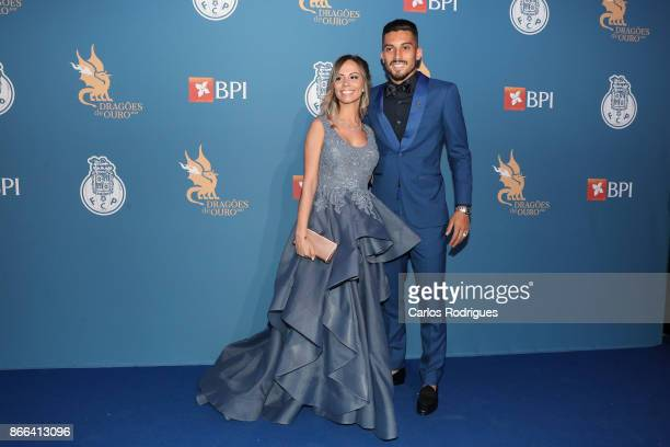 Porto's defender Alex Telles from Brazil and wife Priscila Minuzzo attends FC Porto Gala Dragoes de Ouro 2016 2017 at Dragao Caixa on October 25 2017...