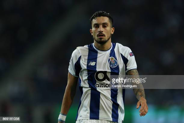 PortoÕs defender Alex Telles from Brazil during the match between FC Porto v RB Leipzig or the UEFA Champions League match at Estadio do Dragao on...