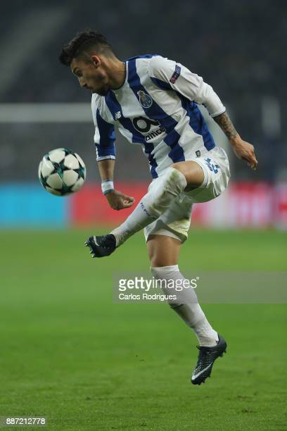 Porto's defender Alex Telles from Brazil during the match between FC Porto v AS Monaco or the UEFA Champions League match at Estadio do Dragao on...