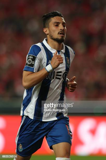 Porto's defender Alex Telles from Brazil during the match between SL Benfica and FC Porto for the Portuguese Primeira Liga at Estadio da Luz on April...