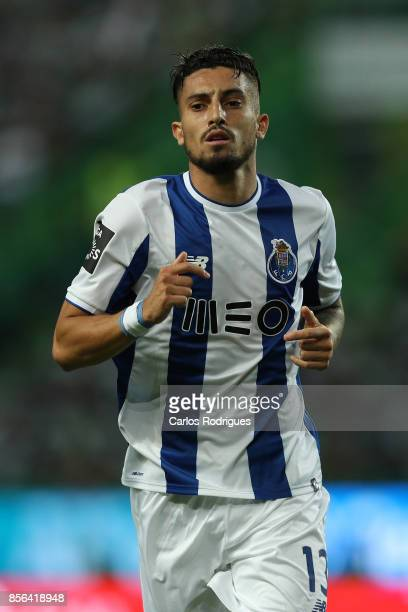 Porto's defender Alex Telles from Brazil during the Portuguese Primeira Liga round two match between Sporting CP and FC Porto at Estadio Jose...