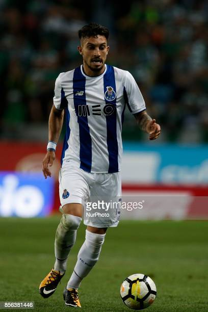 Porto's defender Alex Telles in action during Primeira Liga 2017/18 match between Sporting CP vs FC Porto in Lisbon on October 01 2017