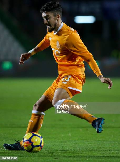 Porto's defender Alex Telles in action during the Portuguese League football match between Vitoria Setubal and FC Porto at Bonfim Stadium in Lisbon...