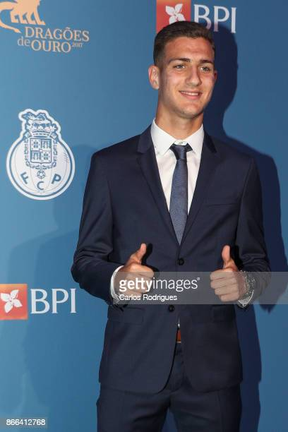 Porto's defender Diogo Dalot from Portugal attends FC Porto Gala Dragoes de Ouro 2016 2017 at Dragao Caixa on October 25 2017 in Porto Portugal