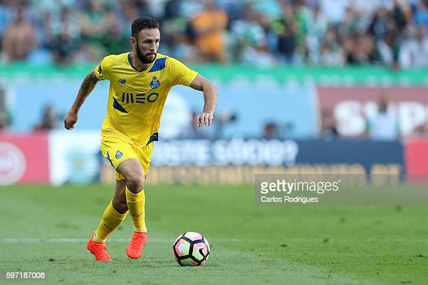 Porto's defender from Mexico Miguel Layun during the Portuguese Primeira Liga between Sporting CP and FC Porto at Estadio Jose Alvalade on August 28...