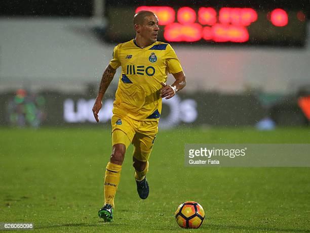 Porto's defender from Uruguay Maxi Pereira in action during the Primeira Liga match between Os Belenenses and FC Porto at Estadio do Restelo on...