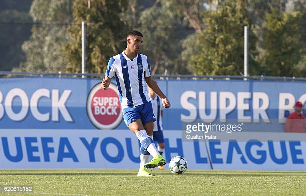 Porto's defender Jorge Fernandes in action during the UEFA Youth Champions League match between FC Porto and Club Brugge KV at Centro de Estagios do...