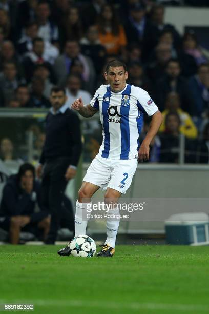 PortoÕs defender Maxi Pereira from Uruguay during the match between FC Porto v RB Leipzig or the UEFA Champions League match at Estadio do Dragao on...