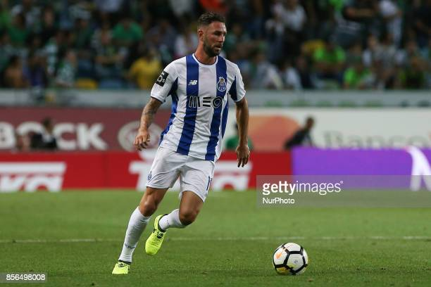 FC Portos defender Miguel Layun from Mexico during Premier League 2017/18 match between Sporting CP and FC Porto at Alvalade Stadium in Lisbon on...