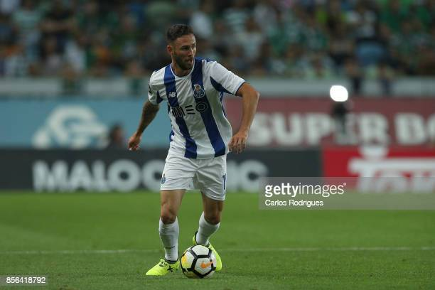 Porto's defender Miguel Layun from Mexico during the Portuguese Primeira Liga round two match between Sporting CP and FC Porto at Estadio Jose...