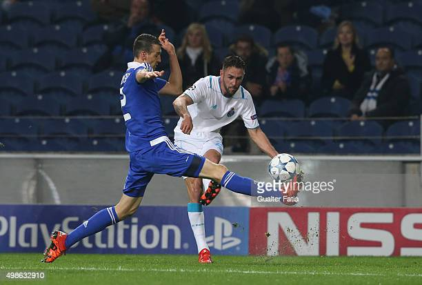 PortoÕs defender Miguel Layun with FC Dynamo KyivÕs defender Danilo Silva in action during the UEFA Champions League match between FC Porto and FC...