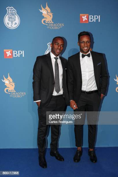 Porto's defender Ricardo Pereira from Portugal and FC Porto's forward Hernani Fortes from Portugal attends FC Porto Gala Dragoes de Ouro 2016 2017 at...