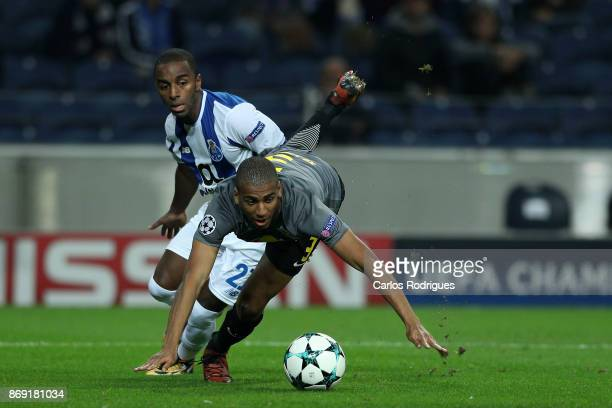 PortoÕs defender Ricardo Pereira from Portugal vies with Leipzig defender Bernardo Junior from Brasil for the ball possession during the match...