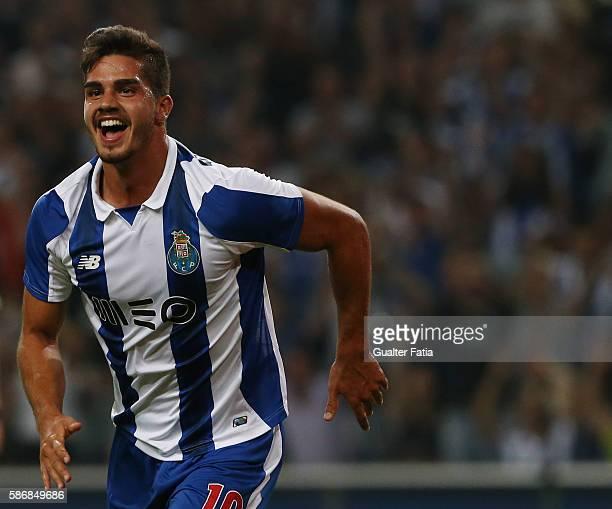 PortoÕs forward Andre Silva celebrates after scoring a goal during the PreSeason Friendly match between FC Porto and Villarreal FC at Estadio do...