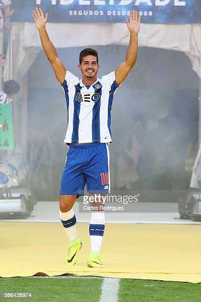 PortoÕs forward Andre Silva during Porto«s presentation before the match between FC Porto v Villarreal CF friendly match at Estadio do Dragao on...