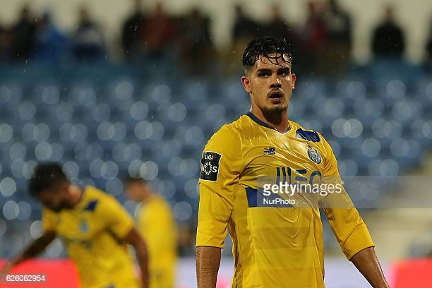 FC Portos forward Andre Silva from Portugal during Premier League 2016/17 match between Os Belenenses and FC Porto Estadio do Restelo in Lisbon on...