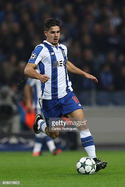 Porto's forward Andre Silva from Portugal during the match between FC Porto v Leicester City FC UEFA Champions League match at Estadio do Drago on...