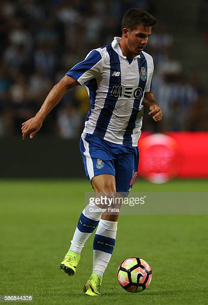 PortoÕs forward Andre Silva in action during the PreSeason Friendly match between FC Porto and Villarreal FC at Estadio do Dragao on August 6 2016 in...