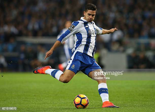 Porto's forward Andre Silva in action during the Primeira Liga match between FC Porto and SL Benfica at Estadio do Dragao on November 6 2016 in Porto...