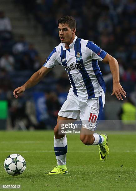 PortoÕs forward Andre Silva in action during the UEFA Champions League match between FC Porto and FC Copenhagen at Estadio do Dragao on September 14...