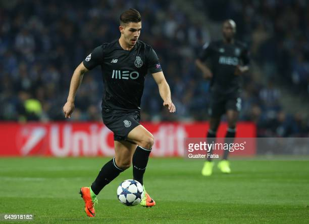 Porto's forward Andre Silva in action during the UEFA Champions League Round of 16 First Leg match between FC Porto and Juventus at Estadio do Dragao...