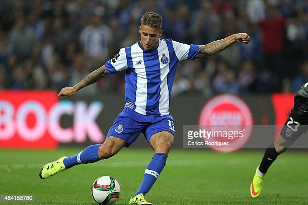 Porto's forward Cristian Tello during the match between FC Porto and Vitoria Guimaraes for the Portuguese Primeira Liga at Estadio do Dragao on...