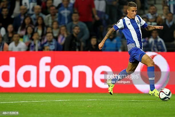 Porto's forward Cristian Tello during the match between FC Porto and Vitoria Guimaraes for the Portuguese Primeira Liga at Estadio do Dragao on...