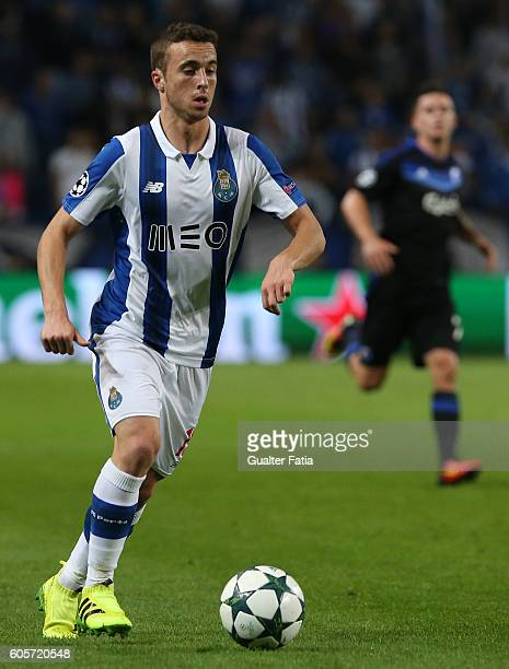 PortoÕs forward Diogo Jota in action during the UEFA Champions League match between FC Porto and FC Copenhagen at Estadio do Dragao on September 14...
