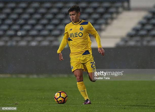 Porto's forward from Brazil Otavio in action during the Primeira Liga match between Os Belenenses and FC Porto at Estadio do Restelo on November 26...